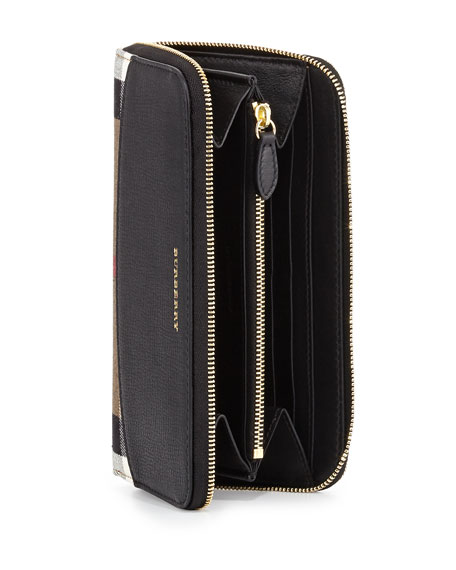 Elmore House Check Derby Wallet, Black