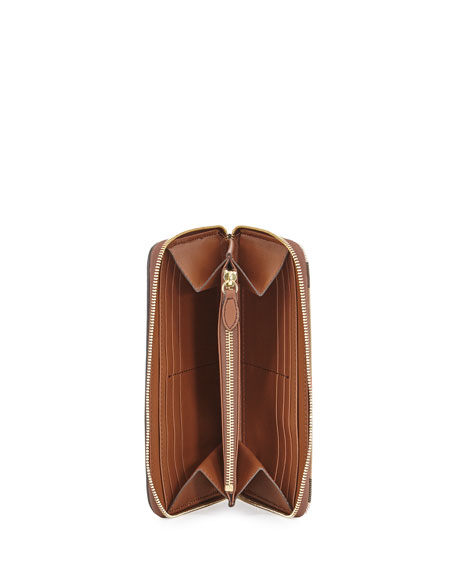 Elmore House Check Derby Wallet, Brown Ochre