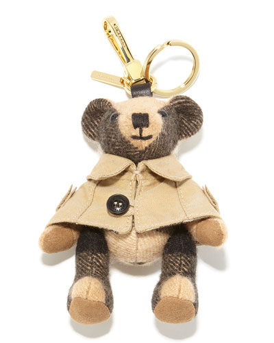 Thomas Trench Teddy Bear Charm for Handbag, Camel