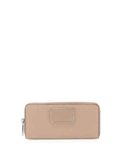 Ligero Slim Zip Around Wallet, Cameo Nude