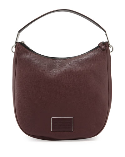 Ligero Pebbled Leather Hobo Bag, Cardamon Multi