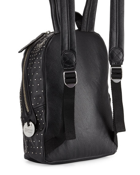 Domo Biker Degrade-Studs Backpack, Black