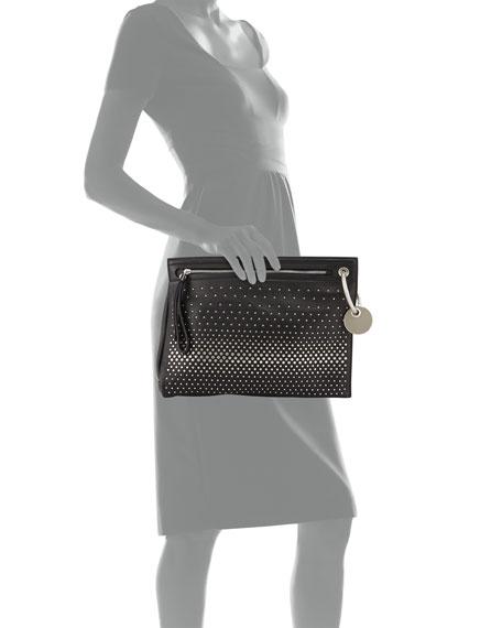 Prism Degrade Studded Clutch Bag, Black