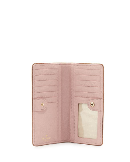 carlton street stacy wallet, rose/gold