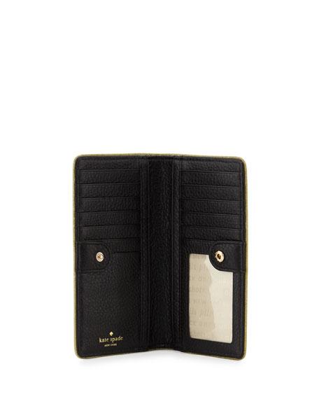 carlton street stacy wallet, black/gold