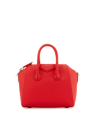 Antigona Mini Sugar Satchel Bag, Red