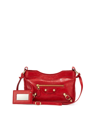 Giant 12 Golden Lambskin Shoulder Bag, Red