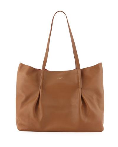 Ondine Large Calfskin Tote Bag, Cashew