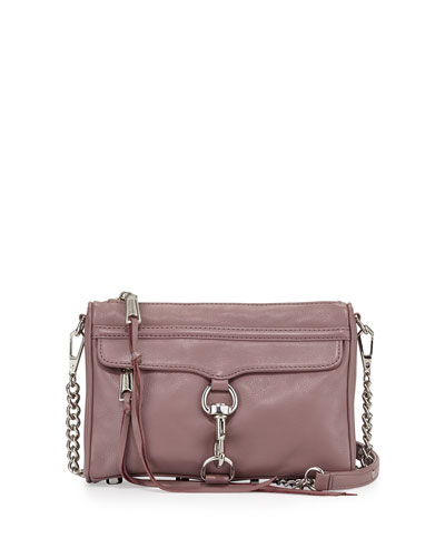 Mini MAC Fringe Clutch Bag, Mauve