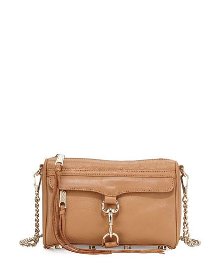 Mini MAC Fringe Clutch Bag, Cuoio
