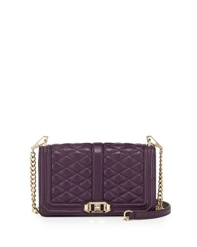 Love Quilted Crossbody Bag, Aubergine