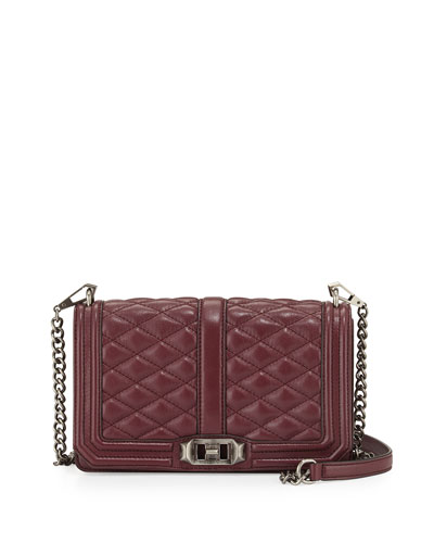 Love Quilted Crossbody Bag, Burgundy