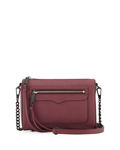 Avery Saffiano Crossbody Bag, Port
