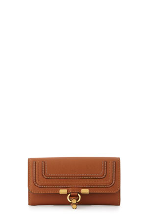 Chloe Marcie Continental Flap Wallet, Tan