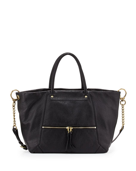 Oryany Jocelyn East-West Leather Shoulder Bag, Black