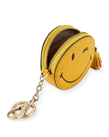 Wink Goatskin Coin Purse, Yellow