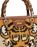 Bamboo Shopper Embroidered Tote Bag, Multi