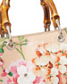 Bamboo Shopper Mini Blooms Crossbody Bag, Nude