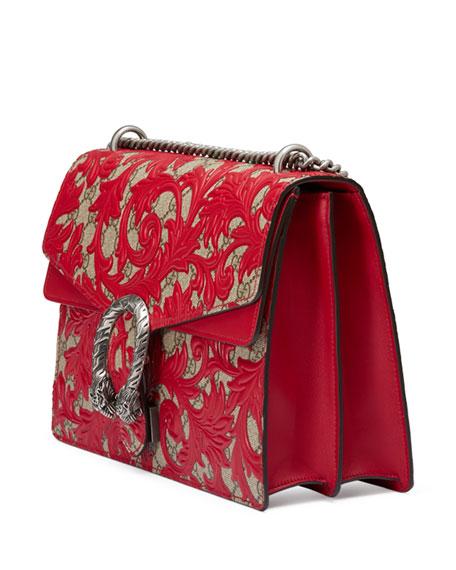 Dionysus Arabesque Shoulder Bag, Red