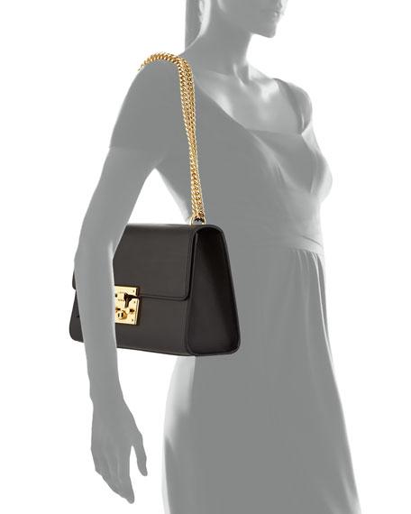 b239369ef7ad Gucci Padlock Leather Shoulder Bag, Black | Neiman Marcus