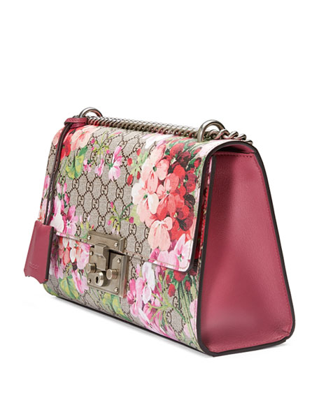 Padlock Blooms Shoulder Bag, Multi Rose