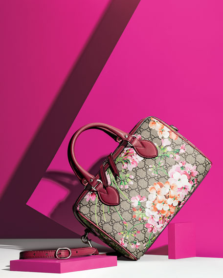 Image 2 of 5: Blooms GG Supreme Small Top-Handle Bag, Multi Rose
