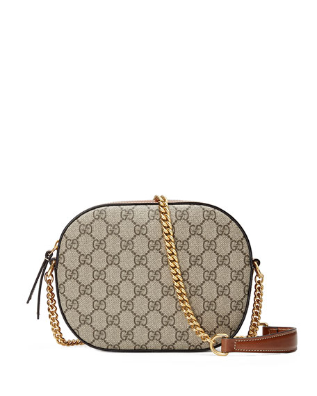 Gucci GG Supreme Mini Chain Crossbody Bag, Brown | Neiman ...
