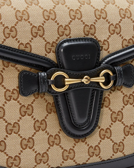ab5981304c6e61 Gucci Lady Web Medium Original Gg Canvas Shoulder Bag Beige ...