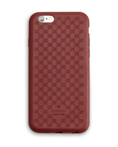 Silicone Guccissima iPhone 6 Case, Red