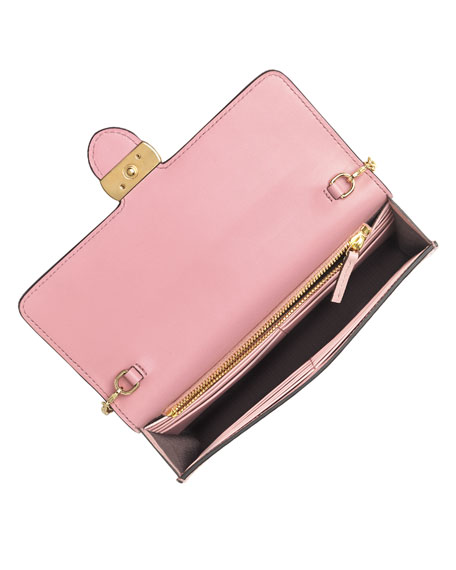 1aab8cf01a5 Gucci Icon Guccissima Wallet On Chain Soft Pink Popscreen
