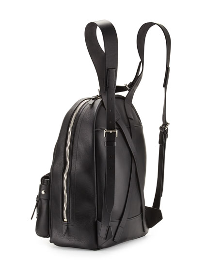 Bianca Mini Fringe Backpack, Black