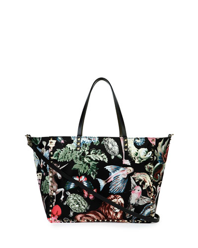 Rockstud Animalia Reversible Tote Bag, Multi