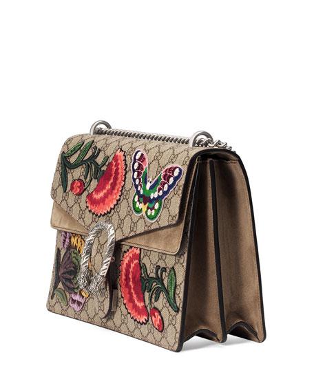 Dionysus Butterfly GG Supreme Canvas Shoulder Bag, Multi