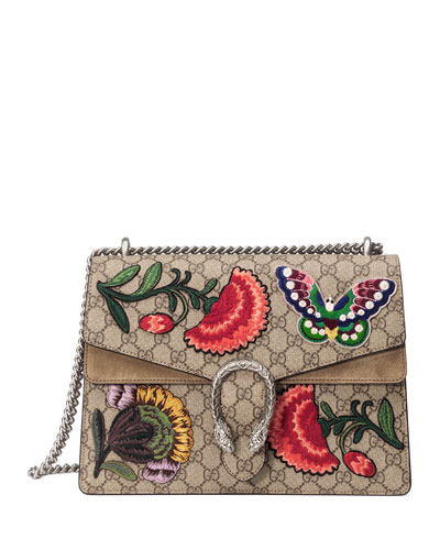 Dionysus Butterfly GG Supreme Canvas Shoulder Bag, Multi