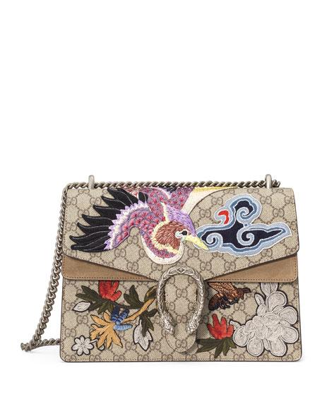 Gucci Dionysus Medium Bird Embroidered Shoulder Bag, Multi