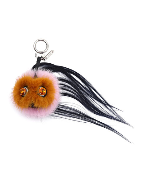 FendiMini Beak Mohawk Fur Monster Charm for Handbag,