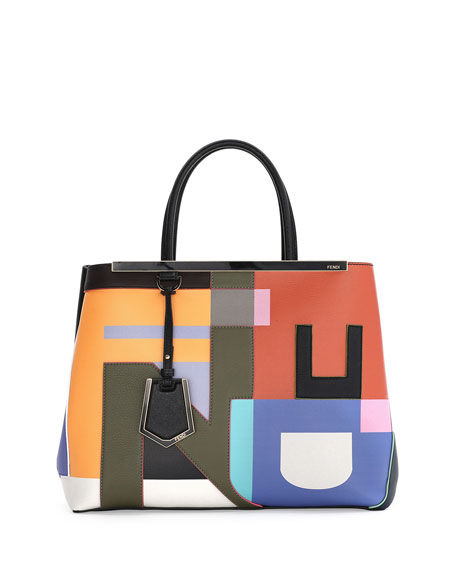 Fendi 2Jours Medium Disordered Satchel Bag, Multi