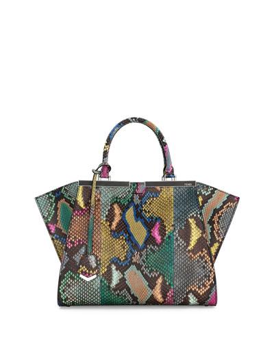 Trois-Jour Petite Painted Python Tote Bag, Multi