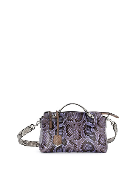 By the Way Small Python Satchel Bag, Purple