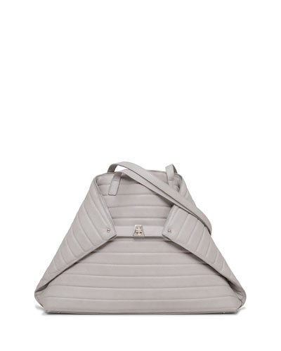 Ai Medium Trapunto-Stitch Shoulder Bag, Quartzite