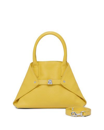 Ai Little Leather Messenger Bag, Yellow