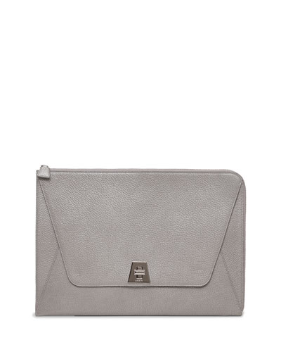 Anouk Envelope Clutch Bag, Silver