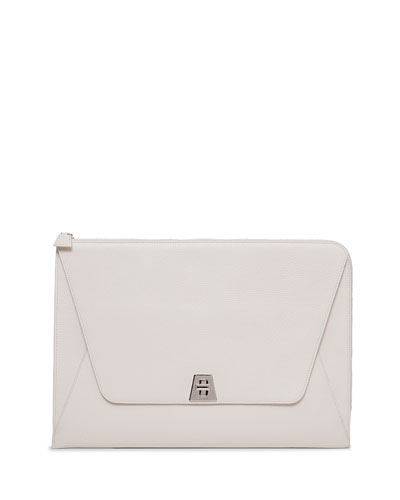 Anouk Envelope Clutch Bag, White