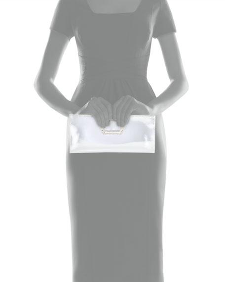 Pilgrim Crystal-Buckle Clutch Bag, Silver