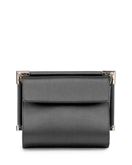 Miss Viv' Hotfix Silk Shoulder Bag, Black