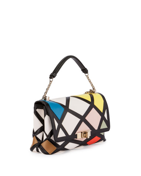 Roger Vivier Prismick Mini Bauhaus Shoulder Bag, Multicolor