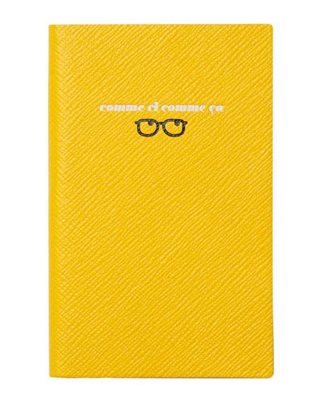 "Varham Panama ""Comme Ci Comme Ca"" Journal, Yellow"