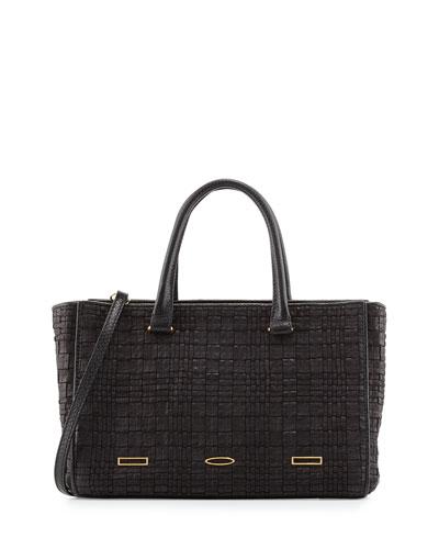 Pandora Demi Woven Tote Bag, Black