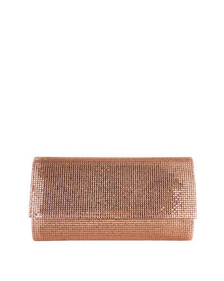 Judith Leiber Couture Manhattan Crystal Clutch Bag, Silver