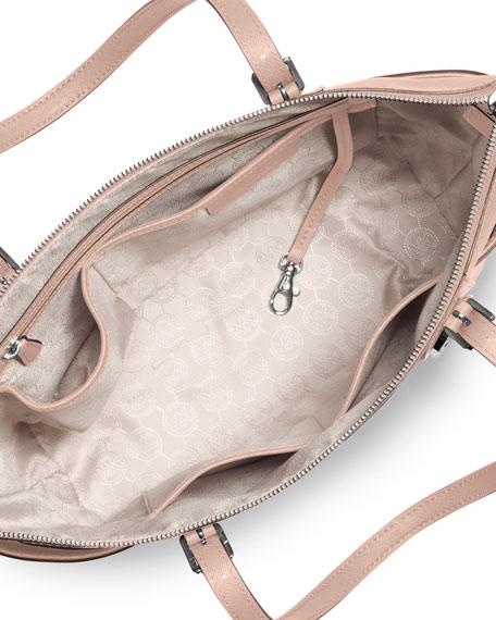 Jet Set Top-Zip Saffiano Tote Bag, Ballet